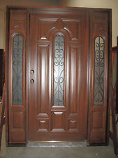 Solid Wood 1D2SL Entry Unit Pre-hung &Finished TMH7525-5-Iron, 5/0X6/8