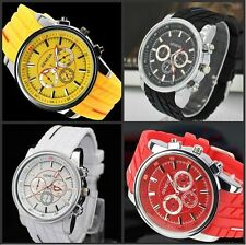 Mens Watches Quartz Stainless Steel Analog Sports New Wrist Watch GENEVA