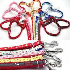 Nylon Dog Harness with leash lead For Small Dogs Harness Set New Pink Red Pink