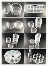 Compartments Transparent Sector And Heart Plastic Beads Storage Tray Box Case
