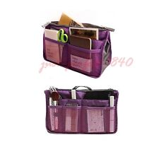 Womens Tidy Travel Insert Handbag Cosmetic Organiser Purse Large Liner Pouch Bag