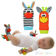 2PCS Infant Baby Kids Foot Sock Rattles finders Glove Toys Developmental Doll