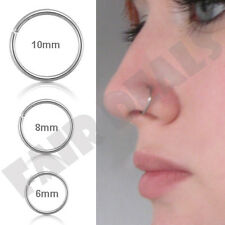 316L Surgical Steel  6mm 8mm 10mm Eyebrow Nose Ear Hoop Body Piercing Stud Ring
