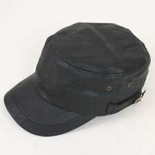 NEW Unisex Faux Leather Cap Military Cadet Army Cargo Trucker Rider Newsboy Hat