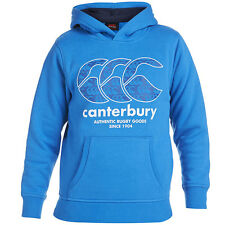CANTERBURY Boy's Kid's Fashion Pattern OTH Over the Head Hoody Brill Blue White