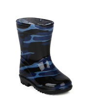 Jelly Beans Camosion New Boys Jelly Camouflage Fabric Lining Pull Up Rain Boot