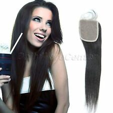 """10-16"""" Pieces Lace Top Closure 3.5""""x4"""" Brazilian Straight Virgin Remy Human Hair"""