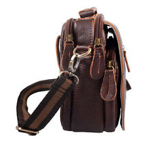 Mens Leather Waist Bags Briefcase Shoulder Messenger Bags Casual Handbags Small