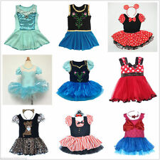Girl Frozen Ballet Leotard Tutu Dance Dress Skirt Kid 2-12Y Dancewear Pirate New