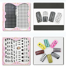 Various Nail Art Decals Half Wraps French Manicure Water Transfer Stickers