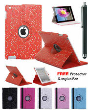 360°Rotatable Diamond Glitter Sparkle Stand Case Cover Apple iPad 2,3,4/Air/mini