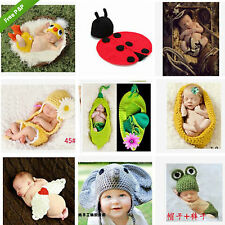 2014 New Baby Crochet Knit Costume Clothes Photo graphy Hat Baby Girl Boy