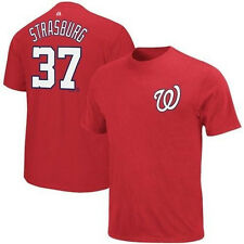 NWT Majestic Stephen Strasburg Red T Shirt Jersey Washington Nationals MLB
