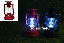 1PC Solar Power RED/ BLACK Camping Outdoor 7LED Hand Charger Antique Light CA