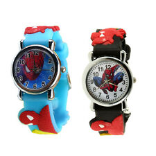 Childrens Kids boys Spider Man wristwatch Analog Quartz Rubber watch gift HC