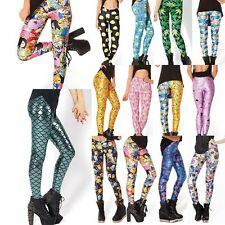 2015 Sexy Lady Leggings 3D Graphic Colour Printed Trousers Pant Yoga Gym Funky