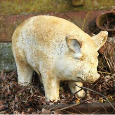 Baby Porker Pig Garden Statue by Orlandi Statuary FS8440- Made of Faux Concrete