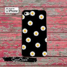 Daisy Pattern Cute Apple iPhone fitted case iPhone 4,4s,5,5s,5c,6, 6 Plus Rubber