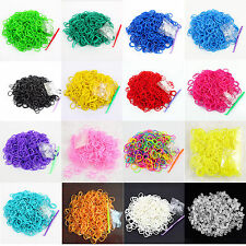 DIY 600pcs Loom Refill Rubber Bands Bracelet 24Clips Kit Fashion DIY Kids Kit