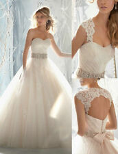 New Stock White / Ivory Wedding Dress Bridal Gown Custom Size 6-8-10-12-14-16-18