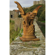 Castle Gate Gargoyle Outdoor Garden Statue by Orlandi-Faux Concrete  FS9560