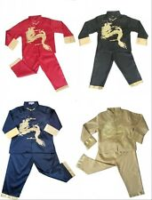 2014 Boy's Asian Chinese Mandarin Kung Fu Costume Suit