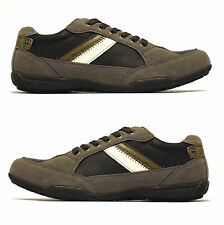 Mens Grey Lace Up Casual Gym Walking Hiking Running Driving Trainers Shoes Size
