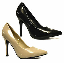 Ladies Womens New High Heel Pointy Toe Work Pumps Mary Jane Court Shoe Size 3-8