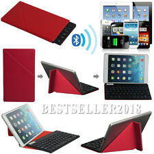 "UltraThin Bluetooth Keyboard W/ Red Case For 9~10.1"" Android Windows Tablet PC"
