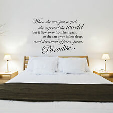 COLDPLAY - PARADISE SONG LYRICS - WALL STICKER DECAL TRANSFER
