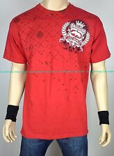 New ECKO UNLTD Red T Shirt rap music hip hop urban gangster mma boxing fighting