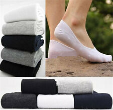 5 Pairs Cotton Socks Low Cut Ped Men's Loafer Boat Liner Low Cut No Show Socks