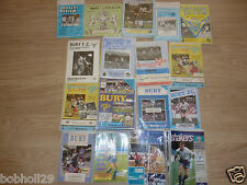 Bury Home Programmes 1980/81 to 1995/96 Select the one you want