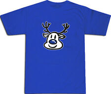 Blue Nose Rudolph Birmingham Football Black or Blue T-SHIRT ALL SIZES