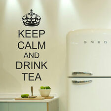 Keep Calm And Drink Tea Wall Art Decal Stickers Decor Kitchen Dining Lounge