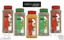 CHEF'S LARDER DRIED AND GROUND SPICES AND HERBS *SEALED PLASTIC TUB MULTILISTING