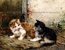 Tug-of-War ~ Cats, Kittens ~ Counted Cross Stitch Chart