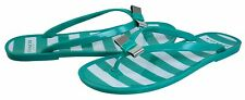 Coach Womens Landon Jelly Green Jade White Flip-Flop Bow Casual Fashion Sandals