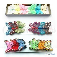Mixed Butterfly Decorations Color Glitter Feather Butterflies Wedding, Crafts