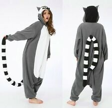 Madagascar Ring-tailed Lemur Adult Unisex Kigurumi Pajamas Cosplay Costume