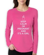 Keep Calm I'm Pregnant And It's A Girl Women Long Sleeve T-Shirt gender reveal