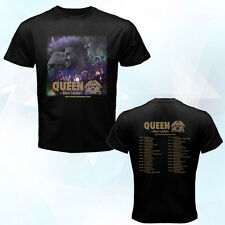 New Queen Adam Lambert North America tour June-July 2014 black t-shirt v2