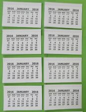 2016 Calendar Tabs Inserts White Mini Calender Tear Off Pads Kids Children Craft