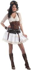 Steampunk Sally Victorian Girl Fancy Dress Up Halloween Sexy Adult Costume