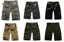 MENS CASUAL MILITARY ARMY CARGO CAMO COMBAT WORK LOOSE PANTS TROUSERS SIZE 28-38