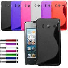 Grip S Line Case Cover For Huawei Ascend G510 Free Retractable Stylus + Screen