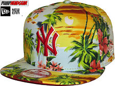 New Era 950 All Over Island NY Yankees Sky/Scarlet Snapback Cap