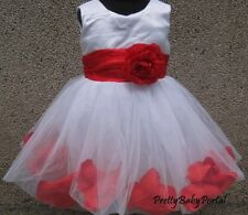 NEW GIRLS Baby Toddler Kid's Petals Princess Pageant Party Wedding TUTU Dress