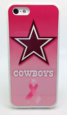 DALLAS COWBOYS PINK FOOTBALL CASE FOR iPHONE 5 5S 5C 4 4S HARD RUBBER SKIN COVER