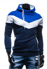 New Autumn&Winter Patchwork Hooded Slim fit Thick fleece sweat men's clothing